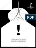Furniture Design Award (2016) Terms & Conditions