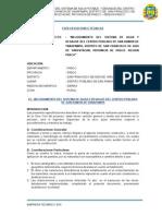01 Especificaciones Técnicas Sitema de Agua Potable - Yanapampa 04-04-2014