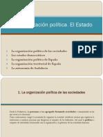 La organización política. El Estado