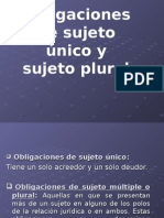 Obligaciones Sujeto Plural