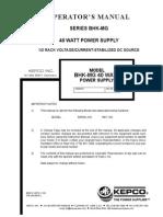 Kepco Power Supply Manual
