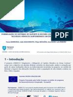 FORMULAÇÃO DE SISTEMAS DE SUPORTE À DECISÃO (SSD) PARA A GESTÃO DOS RECURSOS HÍDRICOS SUBTERRÂNEOS EM ZONAS ÁRIDAS