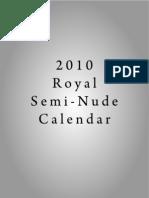 2010 Royal Semi-Nude Calendar