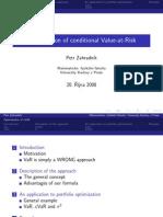 Optimization Conditional VAR