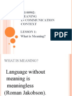 meaning in communication context