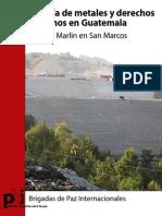 Mineria de Metales y Ddhh en Guatemala