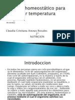 Sistema homeostático para la regular temperatura corporal