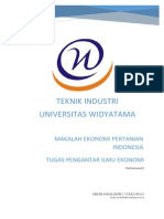 Makalah Ekonomi Pertanian Indonesia