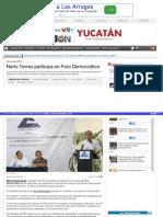 08-05-2015 Nerio Torres participa en Foro Democrático.