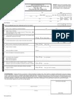 SAS Claim Form 2015
