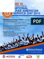 11th Annual Service Day flyer and release form
