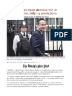 Conservatives claim decisive win in British election, defying predictions.odt