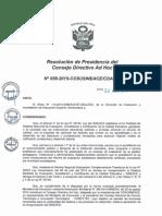Resolución N°059-2015-COSUSINEACE-CDAH-P