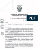 Resolución N°060-2015-COSUSINEACE-CDAH-P