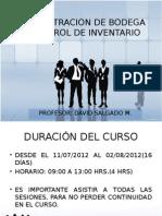 Administracion de Bodega y Control de Inventario Clase 1