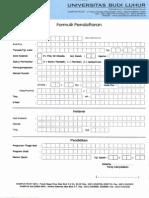 Formulir Pendaftaran Kuliah S2