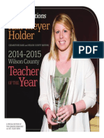 2014-2015 Teacher of the Year