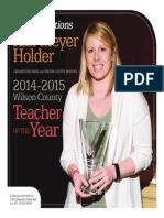 2014-2015 Teacher of the Year