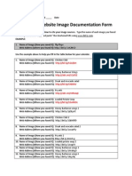 company website image documentation form
