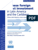 Chinese Foreign Investment in LAC 2013