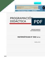 Matematicas 4º Eso _opción B_ 12-13