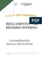 Reglamento de Régimen Interno 2015