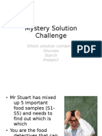 Mystery Solution Challenge - Testing for Presence of Starch Sugar and Protein 2