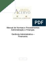 Procedimentos Do Financeiro