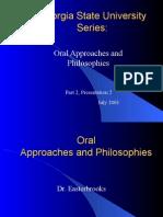 Part2Presentation2OralApproachesandPhilosophies