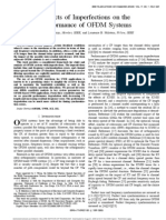 Effects of Imperfections on Theperformance of OFDM Systems