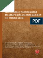 Diversidades y Decolonialidad Del Saber en Las Ciecnais Sociales y El Trabajo Social