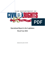 Michigan Department of Civil Rights FY2014 Report