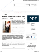 Edición Aniversario_ Gerentes 2007 - Revista Capital