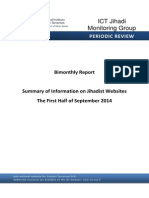 Summary of Information on Jihadist Websites The First Half of September 2014