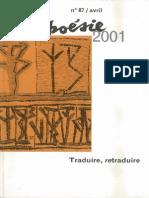 Schiavetta, Bernardo Noche Ciclica Borges French Translation Poesie 2001