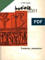 Schiavetta-Bernardo_article traduction en français de_BORGES_Nuit_Cyclique_RevuePoésie2001- traduire_retraduire