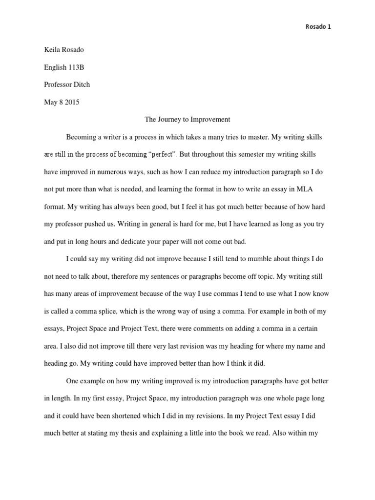 Reflection Essay  Essays  Citation