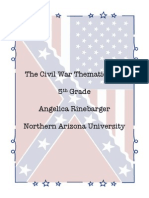 the civil war integrated thematic unit