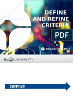 Define and Refine Criteria DLU