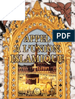 APPEL A L'UNION ISLAMIQUE