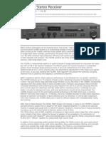Data Sheet - 7020e Stereo Receiver