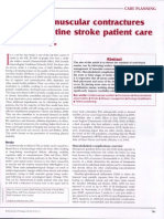 Preventing Muscular Contractures Stroke