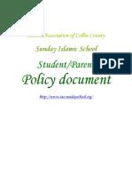 Sunday School Policy
