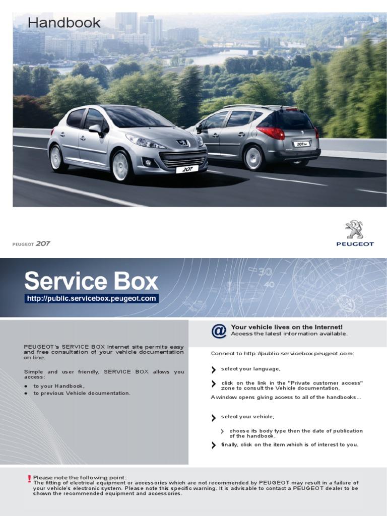 Handbook User Guide Peugeot 207 | Automatic Transmission | Transmission  (Mechanics)