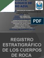 Registro Estratigrafico de Los Cuerpos de Roca