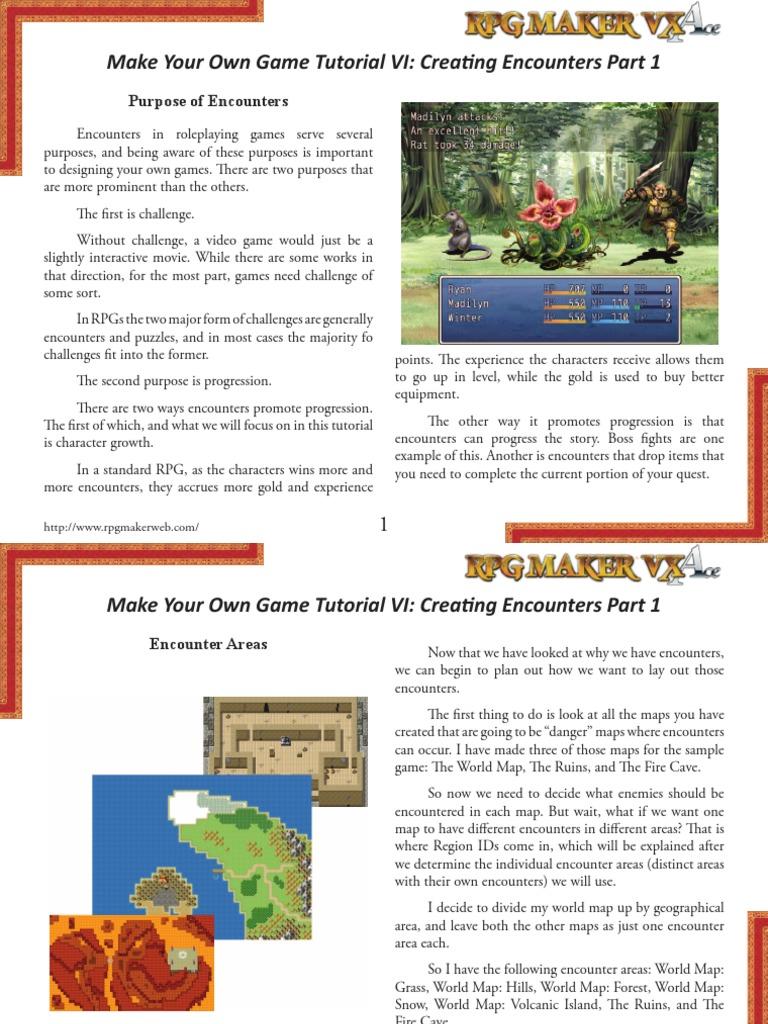 Rpg Maker Vx Ace Tutorial 6 | Video Game Design | Gaming