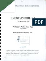 Exegesis Biblica Lucas 9_49y50