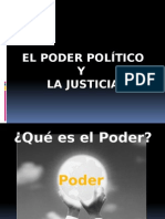 El Poder Político y La Justicia