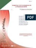 Resumen de La Ley de Ingresos de La Federación 2015