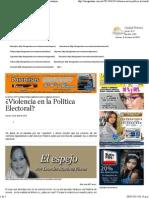 23-04-15 ¿Violencia en la política electoral?